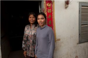 Sern Mony (right) with her mother Sern Yiko.
