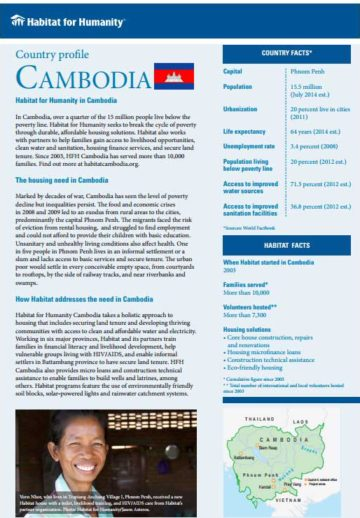 Cambodia Country Profile 2017
