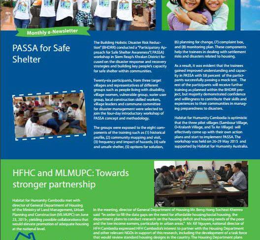 PASSA For Safe Shelter