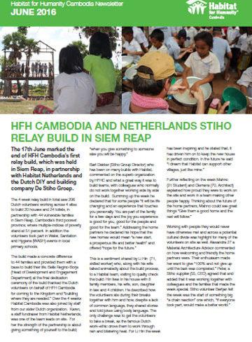 HFHC Newsletter – June 2016